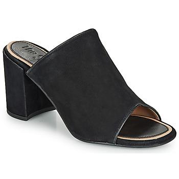 Schoenen Dames Leren slippers Superdry EDIT MULE Zwart