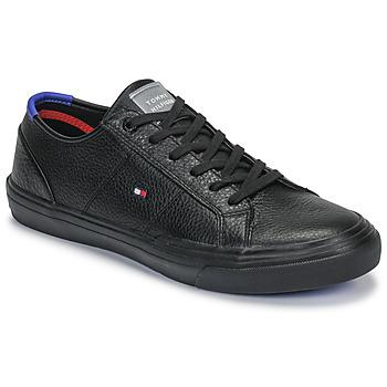Schoenen Heren Lage sneakers Tommy Hilfiger CORE CORPORATE FLAG SNEAKER Zwart