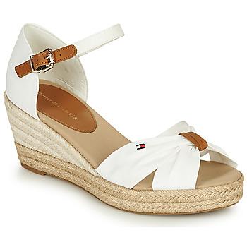 Schoenen Dames Sandalen / Open schoenen Tommy Hilfiger BASIC OPENED TOE MID WEDGE Wit