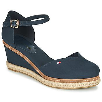 Schoenen Dames Sandalen / Open schoenen Tommy Hilfiger BASIC CLOSED TOE MID WEDGE Blauw