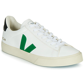 Schoenen Lage sneakers Veja CAMPO Wit / Groen / Zwart