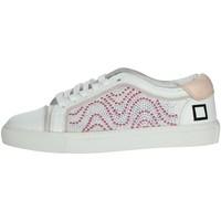 Schoenen Dames Lage sneakers Date E20-6 White/Pink