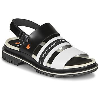 Schoenen Dames Sandalen / Open schoenen Art BIRMINGHAM Zwart / Wit