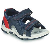 Schoenen Jongens Sandalen / Open schoenen Chicco FLORIAN Marine / Rood