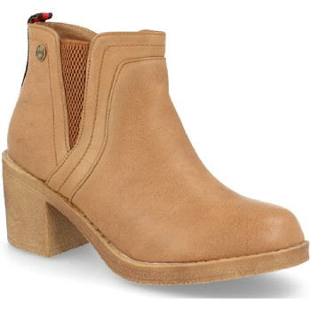 Schoenen Dames Enkellaarzen H&d HD-527 Camel