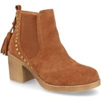 Schoenen Dames Enkellaarzen H&d YZ19-19 Camel