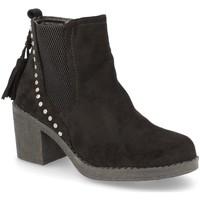 Schoenen Dames Enkellaarzen H&d YZ19-19 Negro