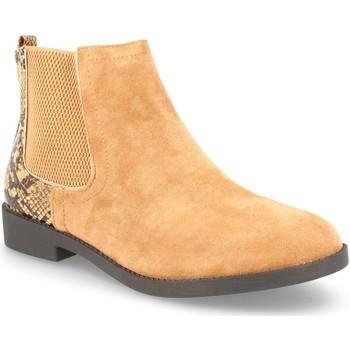 Schoenen Dames Enkellaarzen H&d YZ19-28 Camel