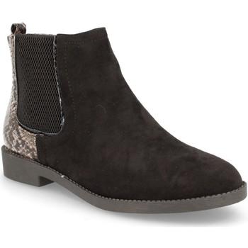 Schoenen Dames Enkellaarzen H&d YZ19-28 Negro