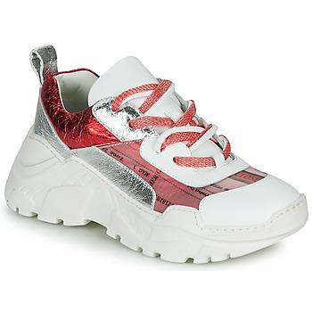 Schoenen Dames Lage sneakers Fru.it CARETTE Wit / Rood / Zilver