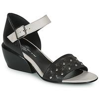 Schoenen Dames Sandalen / Open schoenen Fru.it LEMMINE Zwart / Wit