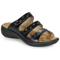 Schoenen Dames Leren slippers Romika Westland IBIZA 66 Zwart