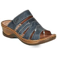 Schoenen Dames Leren slippers Josef Seibel CATALONIA 49 Blauw
