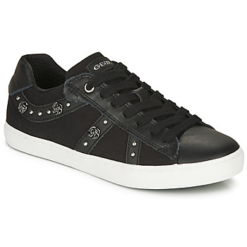 Schoenen Meisjes Lage sneakers Geox J KILWI GIRL  zwart