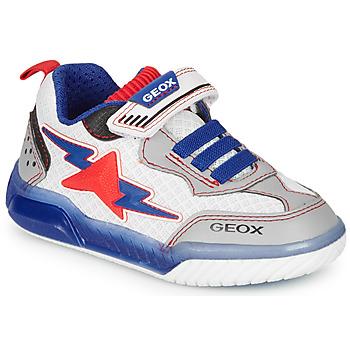 Schoenen Jongens Lage sneakers Geox J INEK BOY Wit / Blauw / Rood
