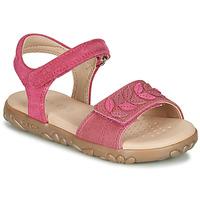 Schoenen Meisjes Sandalen / Open schoenen Geox J SANDAL HAITI GIRL  fuchsia