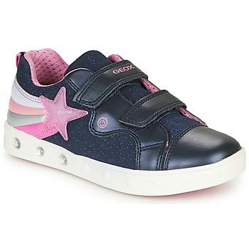 Schoenen Meisjes Lage sneakers Geox J SKYLIN GIRL Marine / Roze