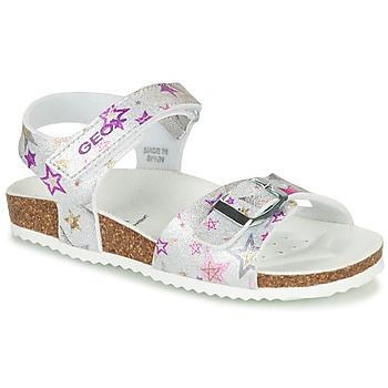 Schoenen Meisjes Sandalen / Open schoenen Geox ADRIEL GIRL Zilver