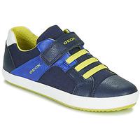 Schoenen Jongens Lage sneakers Geox J GISLI BOY Marine / Geel