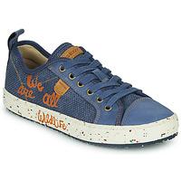 Schoenen Jongens Lage sneakers Geox J ALONISSO BOY Blauw / Brown