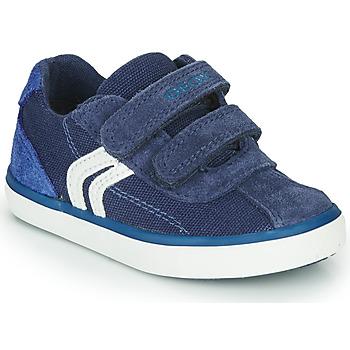 Schoenen Jongens Lage sneakers Geox B KILWI BOY Blauw / Wit