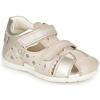Schoenen Meisjes Sandalen / Open schoenen Geox B KAYTAN Goud / Beige