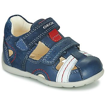 Schoenen Jongens Sandalen / Open schoenen Geox B KAYTAN Blauw / Wit / Rood