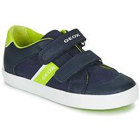 Schoenen Jongens Lage sneakers Geox B GISLI BOY Marine / Groen