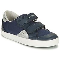 Schoenen Meisjes Lage sneakers Geox B GISLI GIRL Marine / Zilver