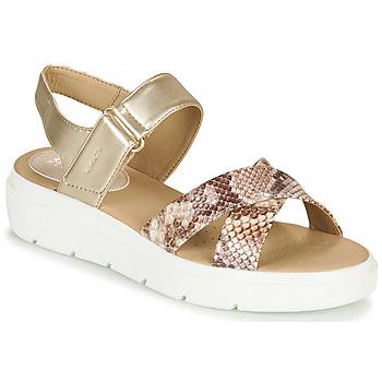 Schoenen Dames Sandalen / Open schoenen Geox D TAMAS Goud / Taupe