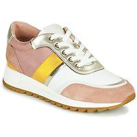 Schoenen Dames Lage sneakers Geox D TABELYA Roze / Wit / Geel