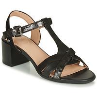 Schoenen Dames Sandalen / Open schoenen Geox D MARYKARMEN MID SAN Zwart