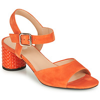 Schoenen Dames Sandalen / Open schoenen Geox D ORTENSIA MID SANDA Orange