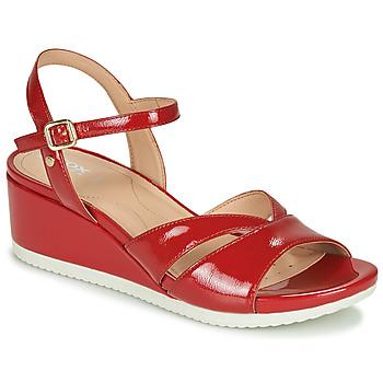 Schoenen Dames Lage sneakers Geox D ISCHIA Rood