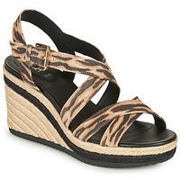 Schoenen Dames Sandalen / Open schoenen Geox D PONZA Brown / Zwart