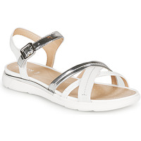 Schoenen Dames Sandalen / Open schoenen Geox D SANDAL HIVER Zilver / Wit