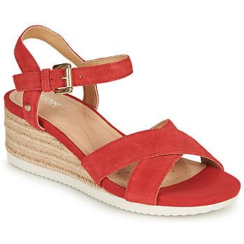 Schoenen Dames Sandalen / Open schoenen Geox D ISCHIA CORDA Rood