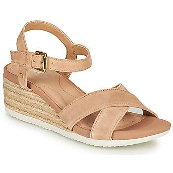 Schoenen Dames Sandalen / Open schoenen Geox D ISCHIA CORDA Beige