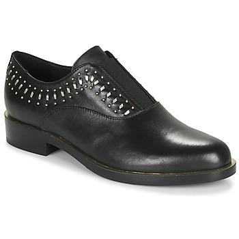 Schoenen Dames Derby Geox D BROGUE S Zwart / Goud
