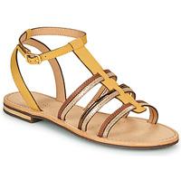 Schoenen Dames Sandalen / Open schoenen Geox D SOZY Geel / Brown / Goud