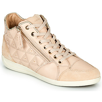 Schoenen Dames Hoge sneakers Geox D MYRIA Beige