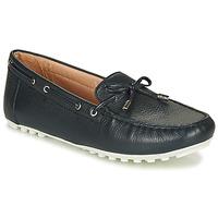 Schoenen Dames Lage sneakers Geox D LEELYAN Blauw / Marine
