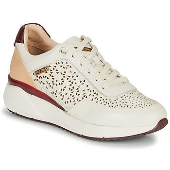 Schoenen Dames Lage sneakers Pikolinos SELLA W6Z Wit / Bordeaux