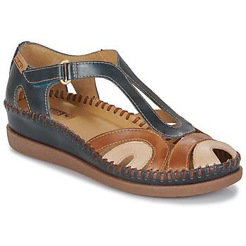 Schoenen Dames Sandalen / Open schoenen Pikolinos CADAQUES W8K Blauw /  camel