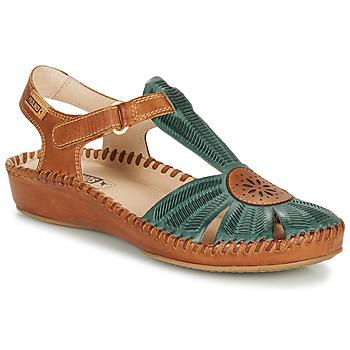Schoenen Dames Sandalen / Open schoenen Pikolinos P. VALLARTA 655  camel / Groen