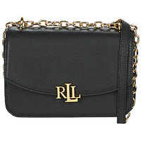 Tassen Dames Schoudertassen met riem Lauren Ralph Lauren ELMSWOOD MADISON CROSSBODY MEDIUM Zwart