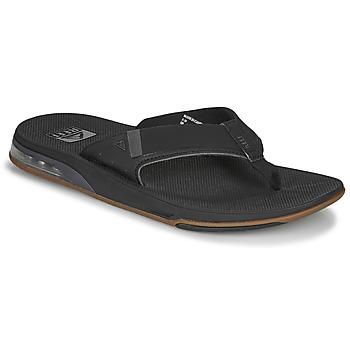 Schoenen Heren Slippers Reef FANNING LOW Zwart