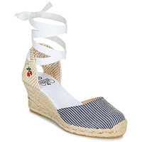 Schoenen Dames Sandalen / Open schoenen Le Temps des Cerises POLY Blauw / Wit