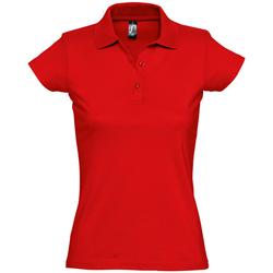 Textiel Dames Polo's korte mouwen Sols PRESCOTT POLO MUJER Rojo