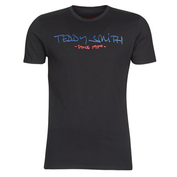 Textiel Heren T-shirts korte mouwen Teddy Smith TICLASS Zwart